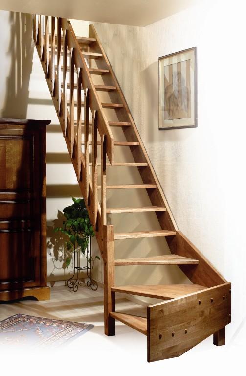 Eiken houten trap ardennes - Interieur houten trap ...