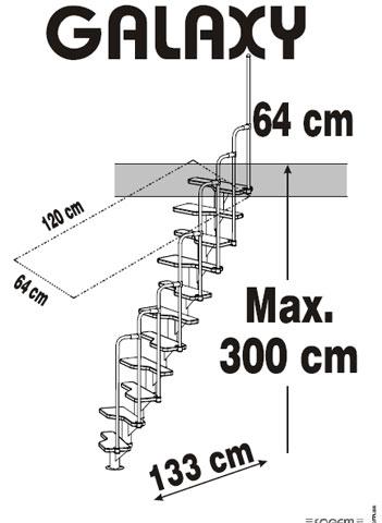 Trap met kwartslag for Maten trap