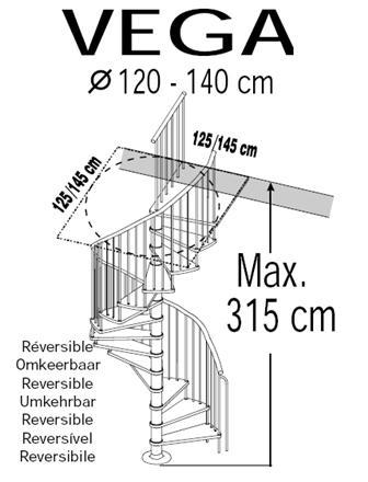 Wentel trap van staal en hout for Maten trap